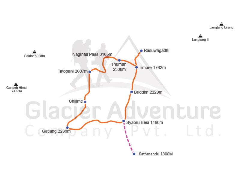 Tamang Heritage Trekking map