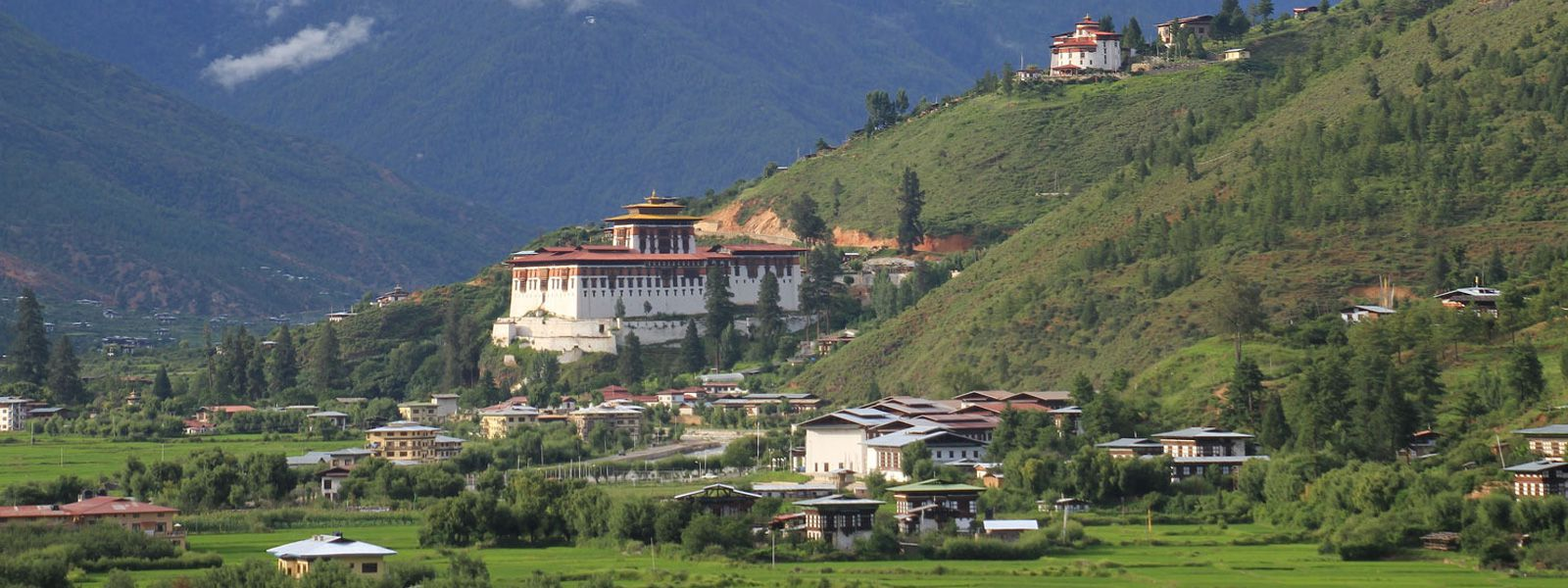 Monastery with  Green Scenery in  Bhutan!