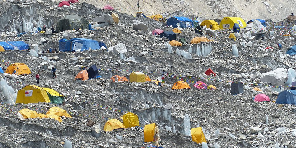 Tent in Everest base camp for Summitter!