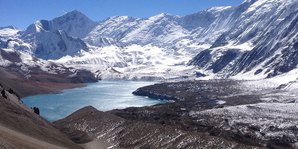 World Highest Place Tilicho Lake with Mountain scenery!